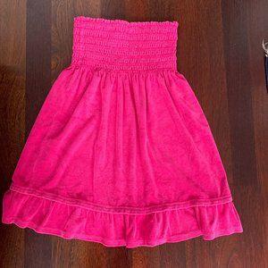 Tommy Hilfiger Pink Bandeau Terry Tube Dress